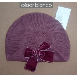 Cesar Blanco Winter Girl Beret Dark Pink