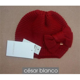 Cesar Blanco Winter Girl Hat Dark Red