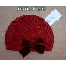 Cesar Blanco Winter Girl Beret Dark Red