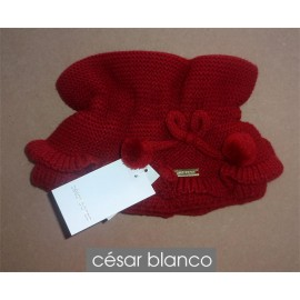 Cesar Blanco Winter Girl Scarf Dark Red