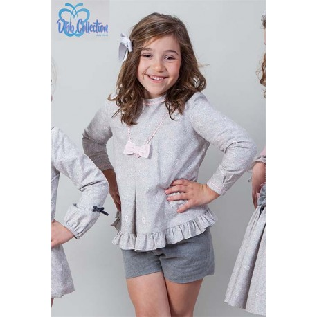 DBB Collection Winter Girl Set Gray with Flowers