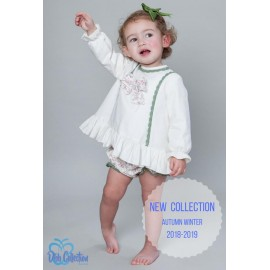 DBB Collection Winter Baby Girl Set White and Flowers