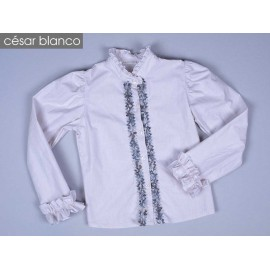 Outlet Invierno César Blanco Camisa niña Tweed