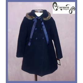 Carmen Vázquez Winter Girl Coat Navy