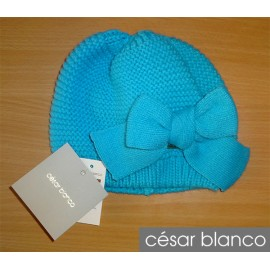 Cesar Blanco Winter Girl Hat Turquoise