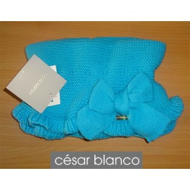 Cesar Blanco Winter Girl Scarf Turquoise