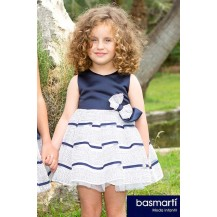 Basmartí Summer Girl Dress Ceremony Navy