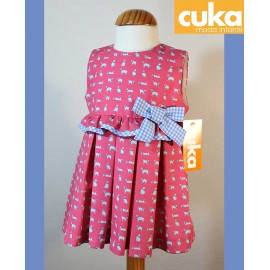Cuka Summer Girl Dress Dogs
