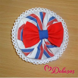 Debesos Summer Girl Pin Red and Blue
