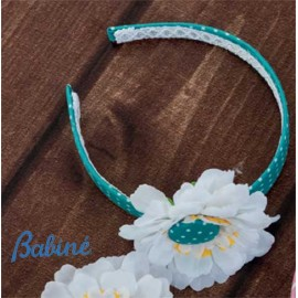 Babiné Summer Girl Diadem Flower and Spots
