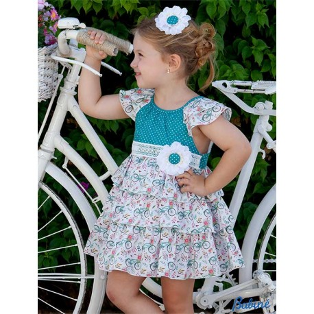 Babiné Summer Girl Dress Bikes and Ruffles
