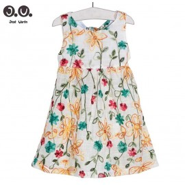José Varón Summer Girl Dress Embroidery Flowers