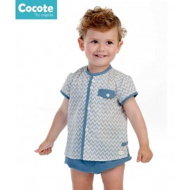Cocote Summer Baby Boy Set Zig Zag Blue