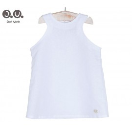José Varón Summer Girl Shirt White Neck