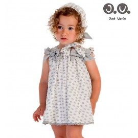 José Varón Summer Baby Girl Dress Crowns