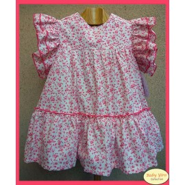 BabyYiro Summer Girl Dress Red Flowers