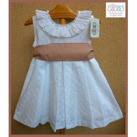 Pipos Summer Girl Dress White