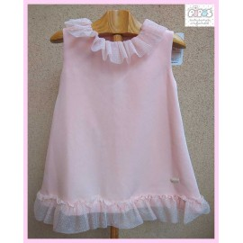 Pipos Summer Girl Dress Soft Pink
