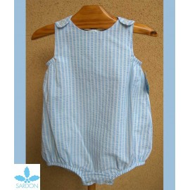 Sardon Summer Baby Romper Light Blue Stripes