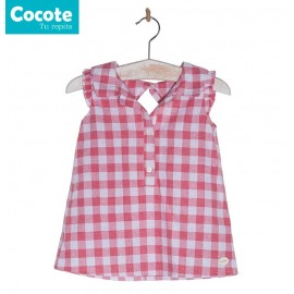 Cocote Summer Girl Shirt Red Squares