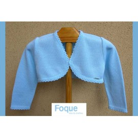 Foque Summer Baby Girl Jacket Light Blue