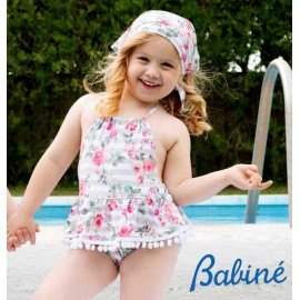 Babiné Summer Baby Girl Swimsuit Flowers