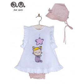 Jose Varon Summer Baby Girl Set Pink Star