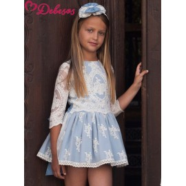 Debesos Summer Girl Dress Ceremony Blue