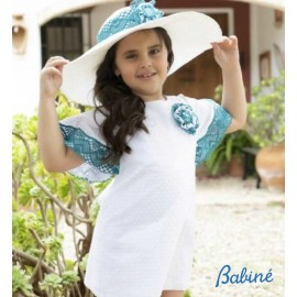 Babiné Summer Girl Dress Straight White