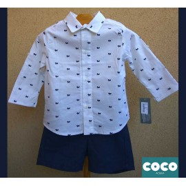 Coco Acqua Summer Baby Boy Set Dogs