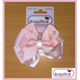 Koquitos Girl Pin Pink and White Lace Ceremony