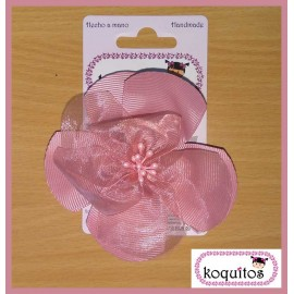 Koquitos Girl Pin Pink Flower Ceremony