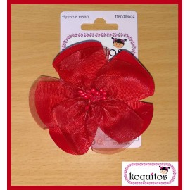 Koquitos Girl Pin Red Flower
