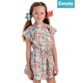 Cocote Summer Girl Dress Tropical Waist