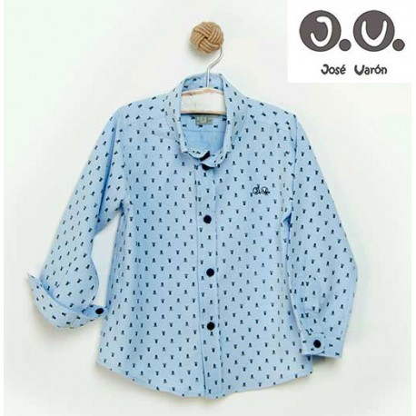 Jose Varon Summer Boy Shirt Skulls