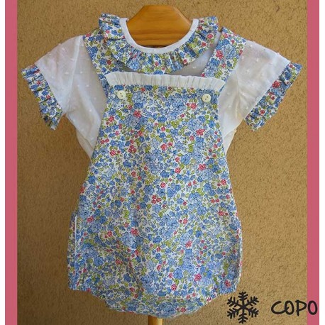 Creaciones Copo Summer Baby Girl Set Flowers
