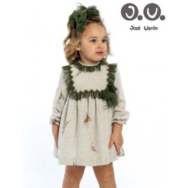 José Varón Winter Baby Girl Dress Fairies