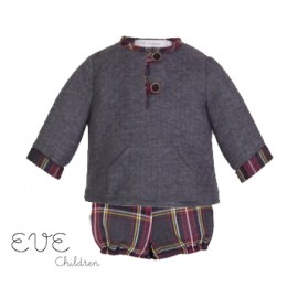 Eve Children Winter Baby Boy Set Tartan