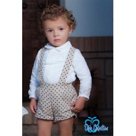 DBB Collection Invierno Conjunto bebé niño Camel Topitos