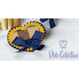 DBB Collection Winter Pin Heart with Squares