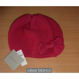 Cesar Blanco Winter Girl Hat Dark Fuchsia