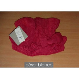 Cesar Blanco Winter Girl Scarf Fuchsia