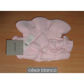 Cesar Blanco Winter Girl Scarf Light Pink