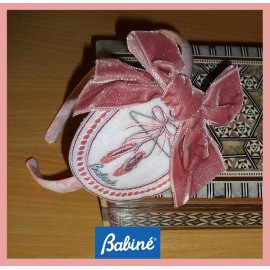 Babiné Winter Girl Diadem Embrodery Pink Lace
