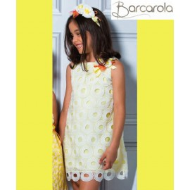 Barcarola Girl Dress Limón