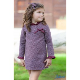 Babine Winter Girl Dress Straight Diamonds Wine