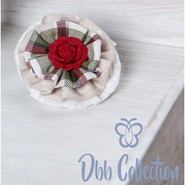 DBB Collection Winter Pin Flower Camel and Squares