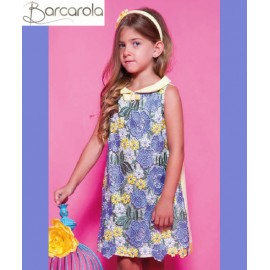 Barcarola Girl Dress Flores