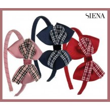 Siena Girl Diadem with Lace and Scottish Squares