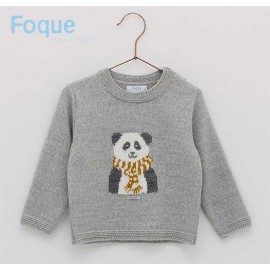 Foque Winter Baby Boy Sweater Panda Bear